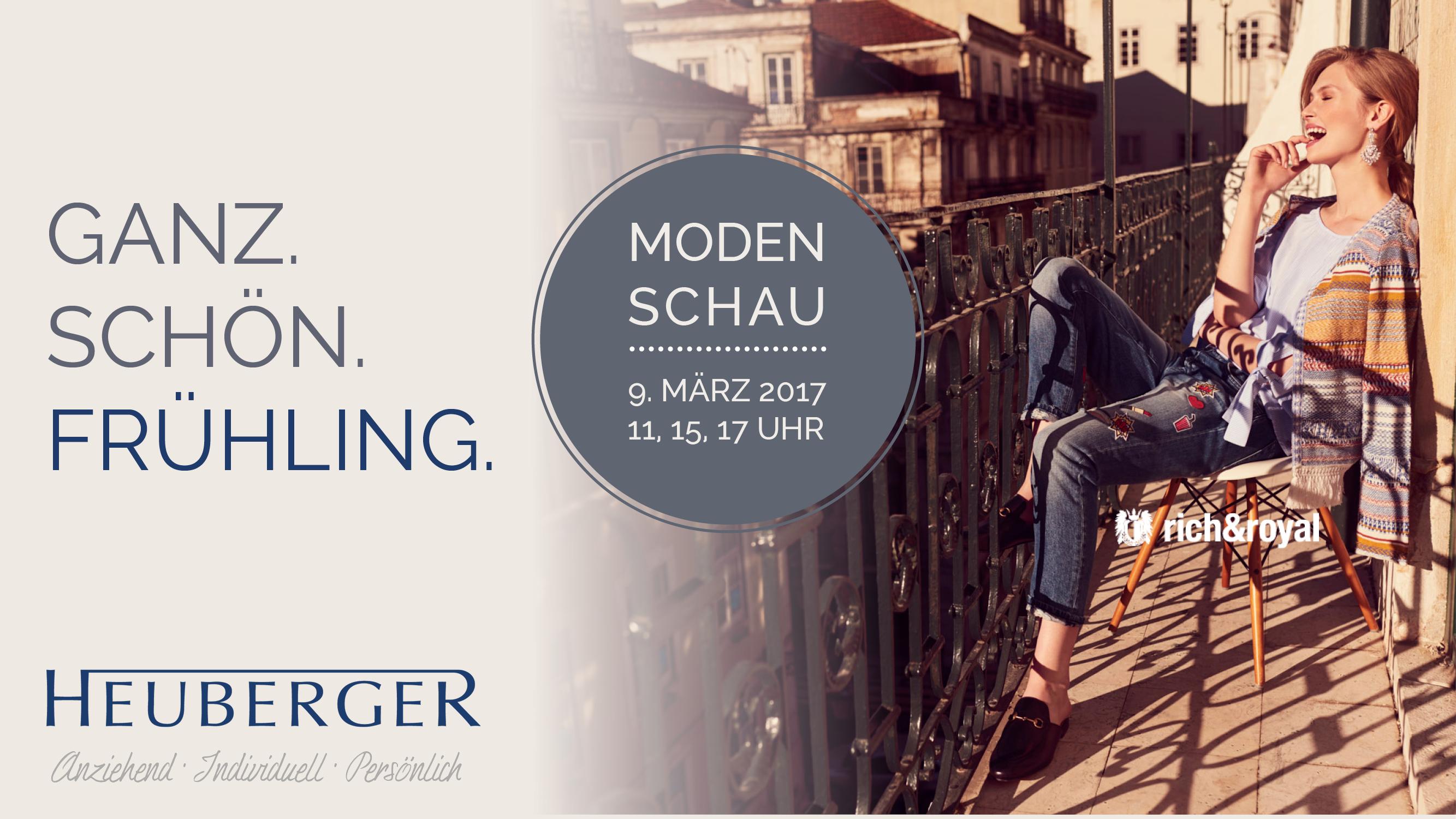 Modenschau Frühjahr 2017