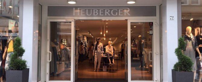 Heuberger Webseite - Modehaus Aussenansicht