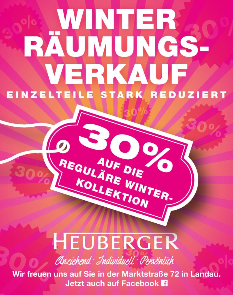 Winterräumungsverkauf 2017 Modehaus Heuberger Landau
