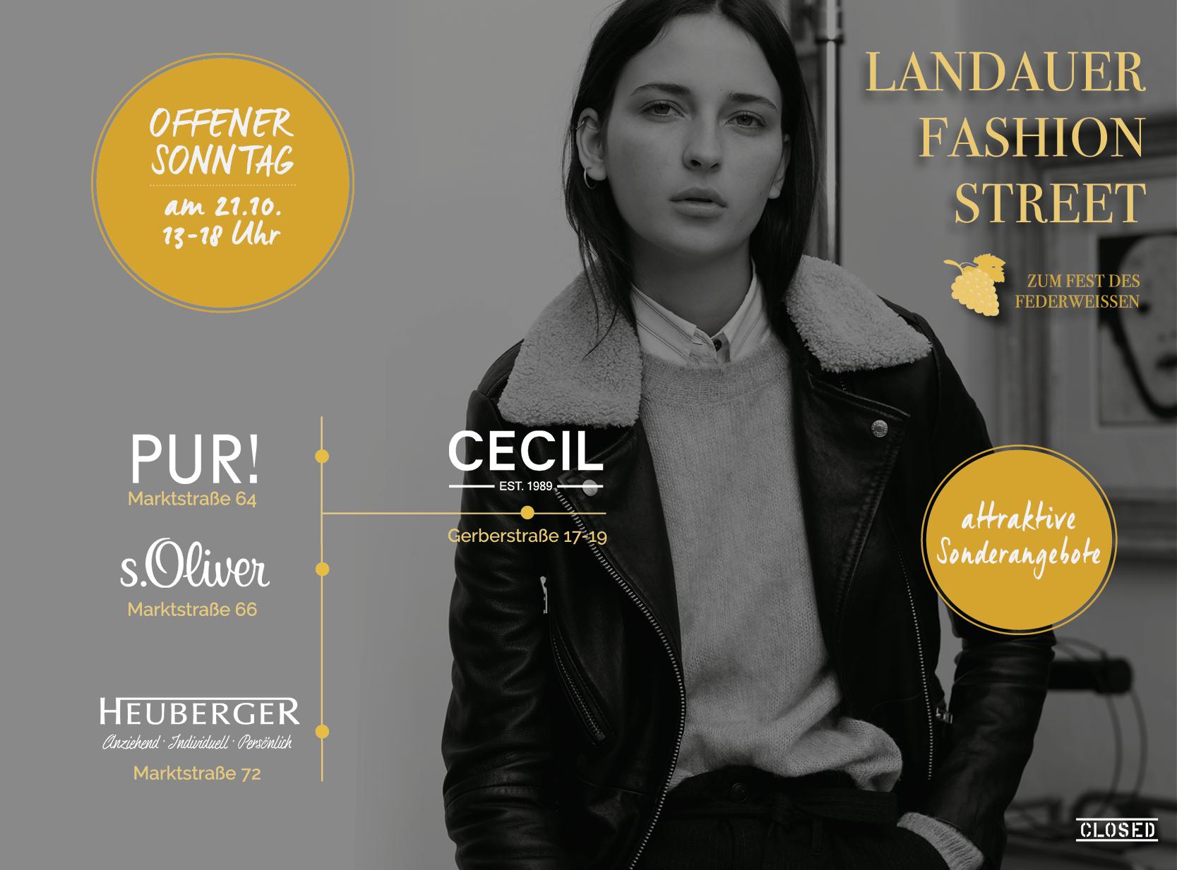 Landauer Fashion Street Fest des Federweissen